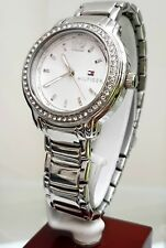 TOMMY HILFIGER Ladies Watch Silver tone Crystal case RRP £189 UK Seller (TH9