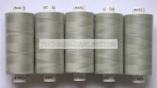 5 REELS LIGHT GREY MOON POLYESTER SEWING THREAD COTTON 120s ( 052 )