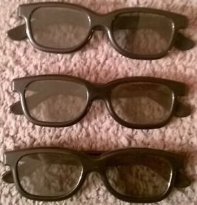 3 x PAIRS OF REAL D 3D GLASSES - NEW