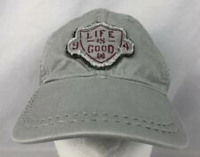 Life Is Good Hat Strapback Ball-cap 100% Cotton Light Grey Adjustable Fits Most