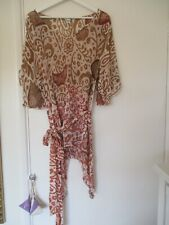 NEW SARONG ONE SIZE HOLIDAY POOL COVER UP BROWN sa267