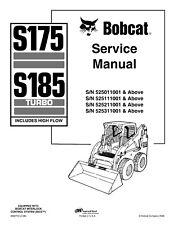 BEST - BOBCAT S175 S185 SERIES TURBO Service Repair Manual 3 Manuals 2006 2008