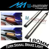 For CBF 300 600 1000 Integra Foot Pegs Side Brake + Signal LED Strip Light 18cm