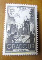 EBS France 1945 Oradour-sur-Glane Massacre YT 742 MNH**