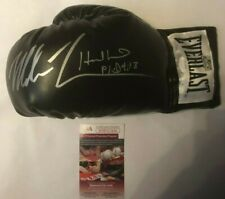 Mike Tyson & Evander Holyfield Autographed Everlast Black Boxing Glove JSA COA