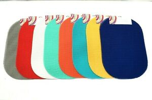 """Waffle Weave Placemats Set of 4 PVC Vinyl Various Colors 13""""x18"""" Outdoor Indoor"""