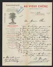 "PARIS (III°) MEUBLES en CHENE ""AU VIEUX CHENE / Ch. TIROUFLET & Cie"" en 1907"