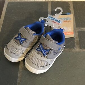 Toddler Boys Surprize Stride Rite sz 3 Gray Chase Sneakers Shoes New