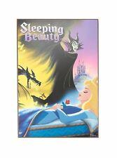 DISNEY OFFICIAL SLEEPING BEAUTY MALEFICENT DRAGON PRINCESS AURORA WOOD WALL ART