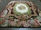 8' X 10' Vintage Hand Made French Savonnerie Versailles  Wool Rug  Beauty # 579