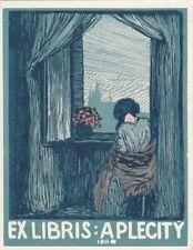 Exlibris Bookplate Hochdruck Ottokar Stafl 1884-1945 Frau Kathedrale