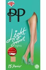 Pretty Polly Everyday Plus 15 Denier Light Support Tights M/l Nude 1pk