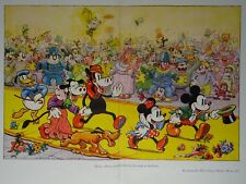 Walt Disney MICKEY MOUSE & HIS RETINUE ARRIVING AT THE PARTY Original Print 1935