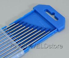 2% Lanthanated WL20 Sky Blue TIG Welding Tungsten Electrodes 2.0mm x 150mm,10PK