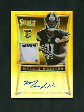 2013 Markus Wheaton Panini Select Gold Prizm Rookie RC Patch Auto /10 SSP