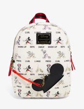 Loungefly Disney Mickey & Friends Workout Mini Backpack - New