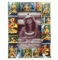 Island Treasures Palm Girl Posters Padded Photo Frame 6 X 4 Island Heritage