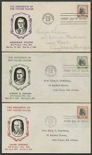 #832-834 ON PRESIDENT SERIES FDC CACHET SET OF 3 1938 BS437