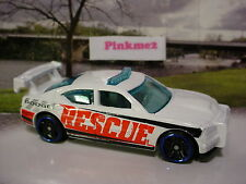 2015 RESCUE RACERS Design Exclusive DODGE CHARGER DRIFT∞White☆LOOSE Hot Wheels