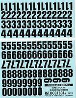 Decalbogen Startnummern schwarz und weiß 1:18 18010