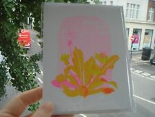 Wishing You Well Greeting Card by Risograph Print Purchased at Liberty London