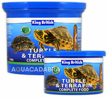KING BRITISH TURTLE & TERRAPIN COMPLETE FOOD PELLETS SHRIMPS KRILL AQUARIUM FISH