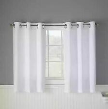 HOOKLESS Waffle 45-Inch Bath Window Curtain in White