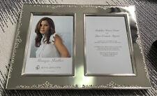"MONIQUE LHUILLIER Waterford Crystal NIB Modern Love Double Invitation Frame 5x7"""