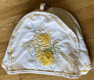 """Vintage Toaster Cover Lemon """"Lemon Aid"""" Quilted FAST SHIPPING"""