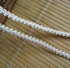 5 yd Vintage Nylon Lace Trim Wedding Dress Ribbon Crochet Applique Sewing Craft