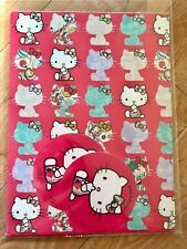 Hello Kitty Cumpleaños Papel De Embalaje Roja (Inc 2 Hojas & 2 etiquetas)