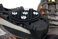 Snow Grip Spike Ice Shoes Anti Slip 5-teeth Climbing Crampons Grippers Black