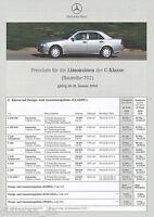 6058MB Mercedes C-Klasse Preisliste 2000 31.1.00 43 AMG 280 240 230 K 200 220