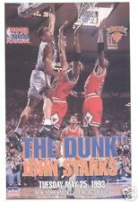 "Original John Starks ""The Dunk"" New York Knicks Poster by Starline"
