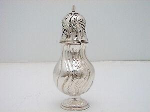 Rococo Danish Sterling Silver Sugar Spice Caster Hallmarked PM c1757 Poul Moller