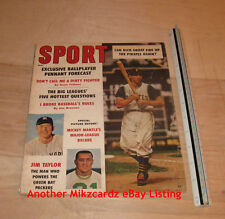 SPORT Magazine (May 1961) Dick Groat, Mickey Mantle, Jim Taylor COVER