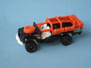 Matchbox Sahara Survivor Land Rover Army SAS Military Black Body Toy Car