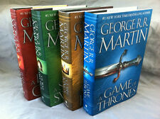 A Game of Thrones Song of Ice and Fire HARDCOVER SET of Four by George Martin