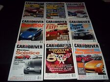 2002 CAR AND DRIVER MAGAZINE LOT OF 12 ISSUES - NICE AUTOMOBILE COVERS - M 644