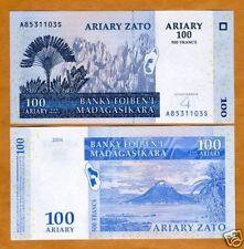 Madagascar, 100 Ariary, 2004, Pick 86, UNC