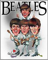 The Beatles Limited  cartoon caricature picture poster art print by Don Howard