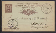 Italy H&G 13 used 1888 Postal Card to Poland