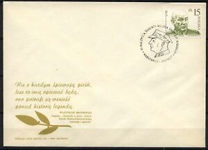 POLAND 1987 FDC SC#2795 Gen K, SWIERCZEWSKI - WALTER