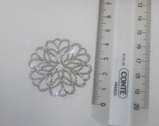 Ecusson à customiser avec strass Patche hotfix Glitter argent 4cm Argent(N°36)