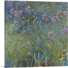 ARTCANVAS Agapanthus Flowers Canvas Art Print by Claude Monet