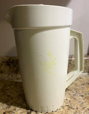 Vintage Tupperware Pitcher 800 ~ Almond ~ 2 Quart - Push Button Lid ~ Free Ship
