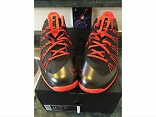 SHIP ON 1/5 - 2013 Nike Air Max Lebron X 10 Low Black Crimson Orange Size 13