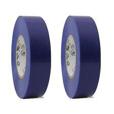 "2 Rolls Blue Vinyl PVC Electrical Tape 3/4"" x 66' Flame Retardant Free Shipping"