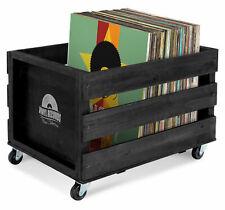 Schallplatten Vinyl Box Kiste Aufbewahrung LP 100 Sammlung Plattenkiste Schwarz