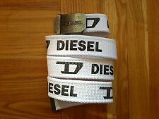 DIESEL CANVAS WHITE BELT, NEW NO TAGS